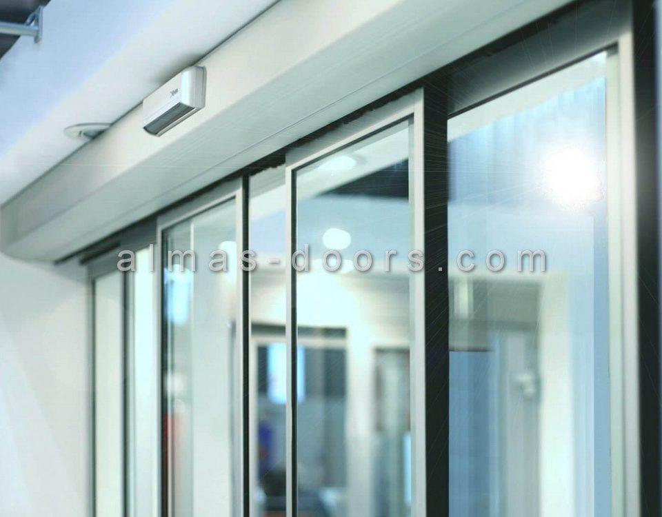نصب و سیم کشی اپراتور درب شیشه ای لابل Label